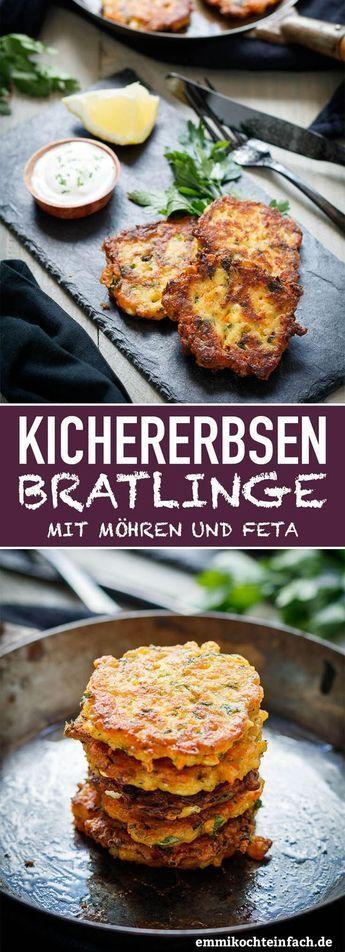 Rissóis de grão de bico com cenoura e queijo feta   – Essen