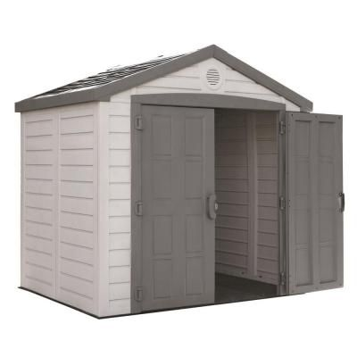 Us leisure keter sunterrace 8 ft x 6 ft resin outdoor for Resin storage sheds