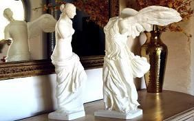 Copy's of Venus de Milo and the Winged Victory of Samothrace These were created by an artist named Cosmo Wenman