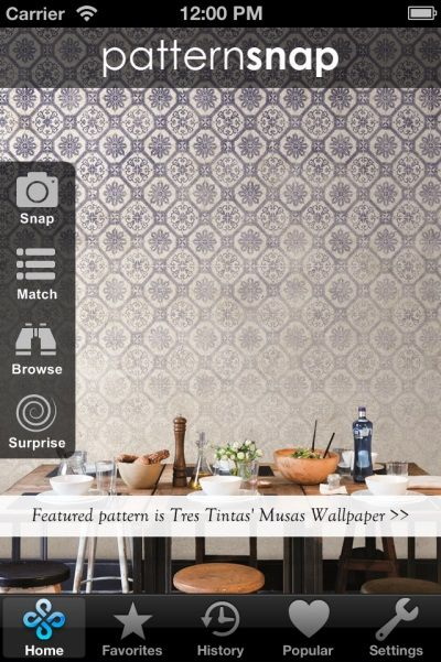 11.6.14 - Today's Featured pattern is Tres Tintas' 'Musas' Wallpaper