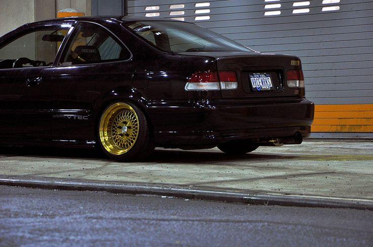 Klutch Wheels SL-1 24k Gold on Vraceworks Honda Civic Coup… | Flickr