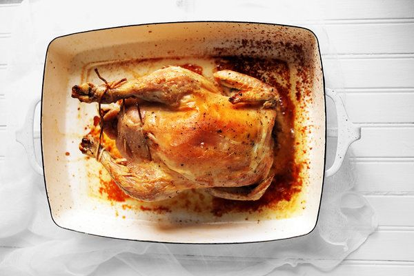 Marcella Hazan's Roast Chicken With Lemons Recipe: When Marcella Hazan died in 2013, The NYT invited readers to share their favorite recipes from her books. This astonishingly simple roast chicken came in 2nd :)
