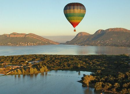 Hartbeespoort, South Africa - overlooks the Hartbeespoort Dam...