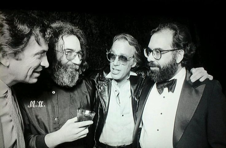 """The time COPPOLA partied with BILL GRAHAM, JERRY GARCIA and HOWARD HESSEMAN before a screening of APOCALYPSE NOW."""
