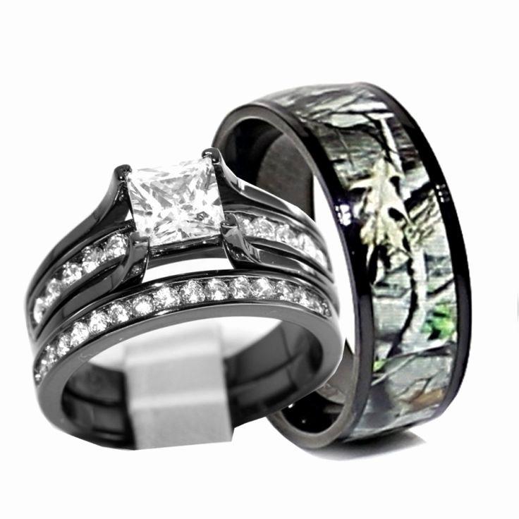 Luxury 3 Sample Camo Mens Wedding Rings Calla Lily