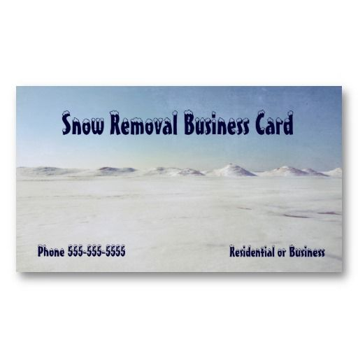 22 best snow removal business cards images on pinterest business snow removal icy lake michigan business card colourmoves