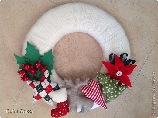 Изобр по > Рождественский Венок Своими Руками из Фетра