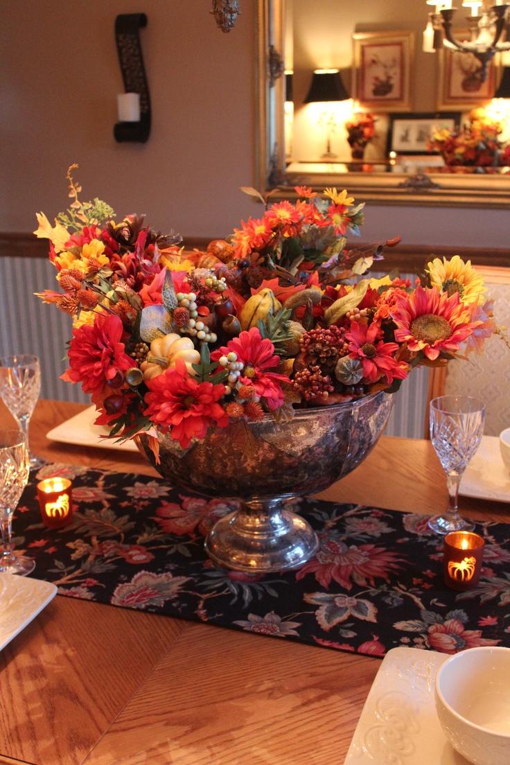 Best images about punch bowl floral arrangements on