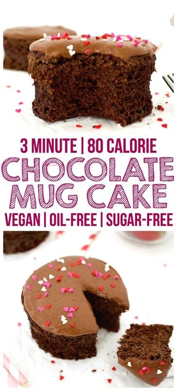 Healthy Single Serving Chocolate Mug Cake! (Vegan, Whole-Wheat, Oil-Free, Sugar-Free)