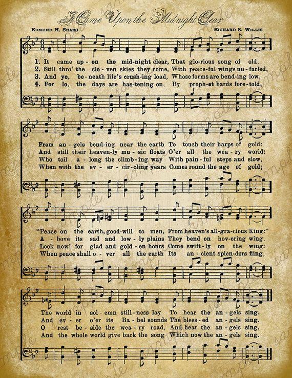 33 best Christmas Sheet Music images on Pinterest | Vintage ...