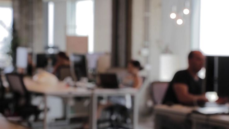 Free Corporate Stock Video - Large Office Co-working Space