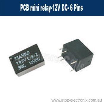 PCB mini relay-12V DC- 6 Pins