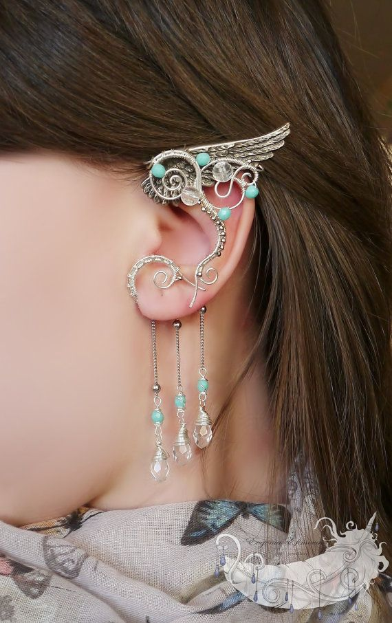 Silver plated ear cuff with a wing https://www.etsy.com/ru/listing/184274187/wings-of-the-wind-romantic-jewelry