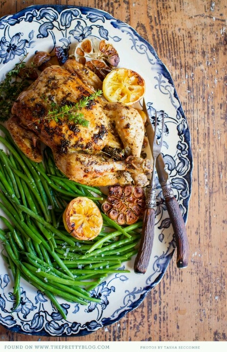 Lemon, garlic and thyme chicken | Thyme | Pinterest