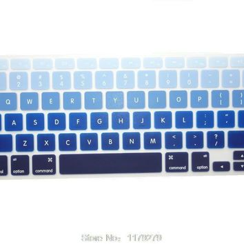 Mac book Color Zig Zag Design Silicone Keyboard cover for Mac book Pro 13 15 17 Air 13