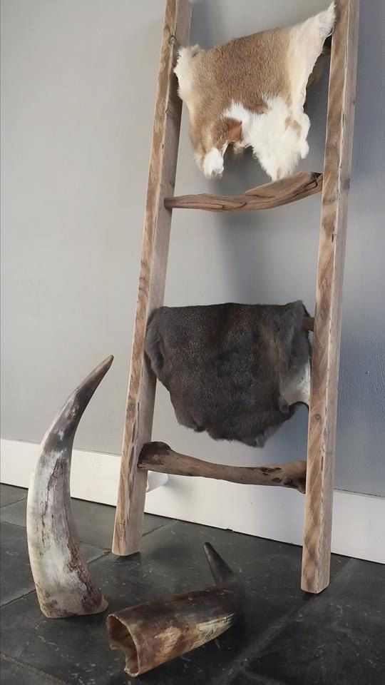 Meer dan 1000 idee n over houten ladder inrichting op for Houten schijven decoratie
