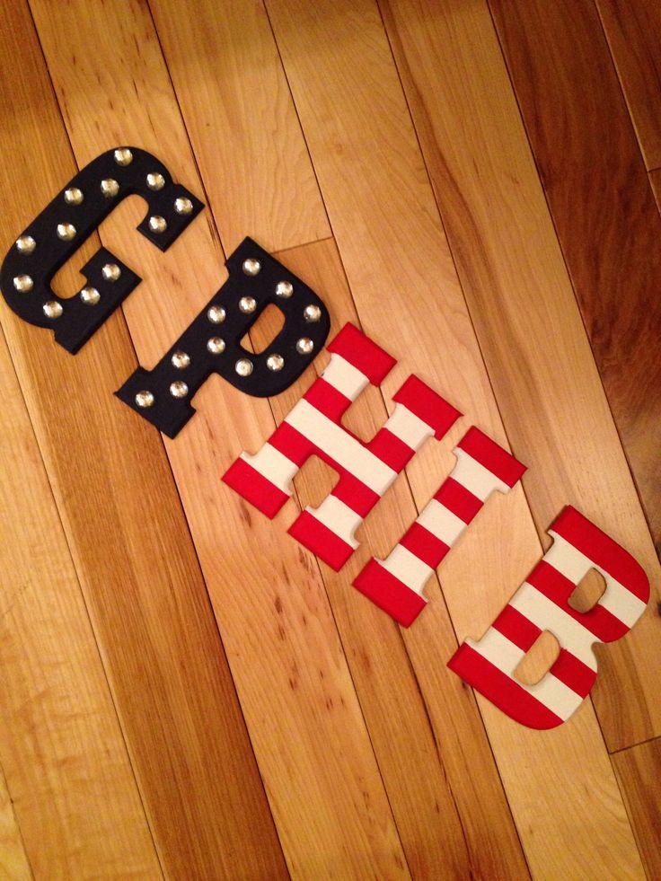 American flag gamma phi beta letters