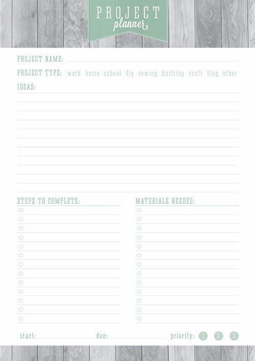 Free Printable Home Organizer - Project Planner