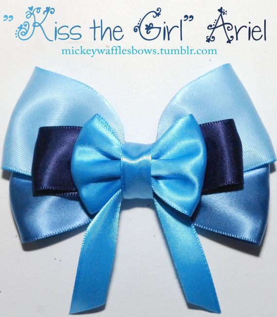 Kiss the Girl Ariel Hair Bow by MickeyWaffles on Etsy, $8.00