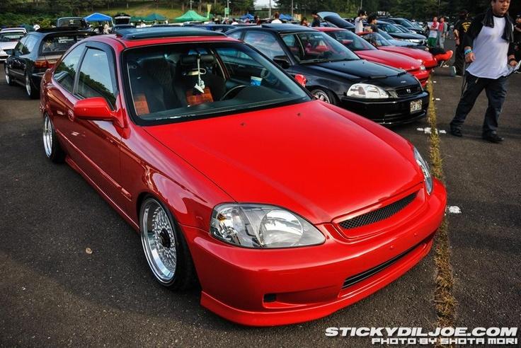 Honda Civic; Car Show.