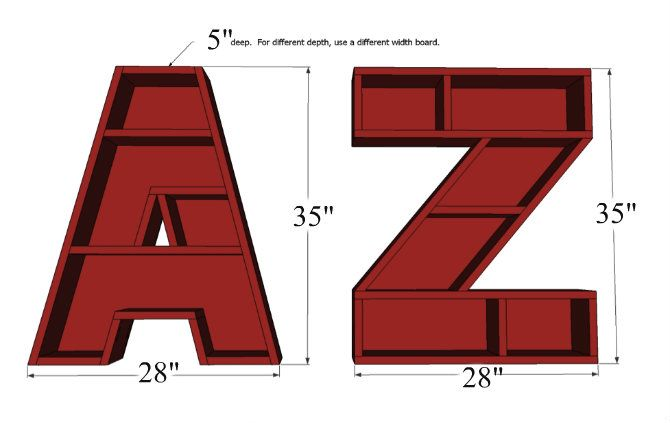 Letter A Bookshelf Tutorial {3M DIY Starts Here} - Home Stories A to Z