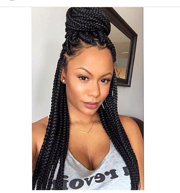 Box braids  love this                                                                                                                                                      More