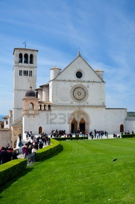 Veduta della basilica superiore  Asisi  Italia