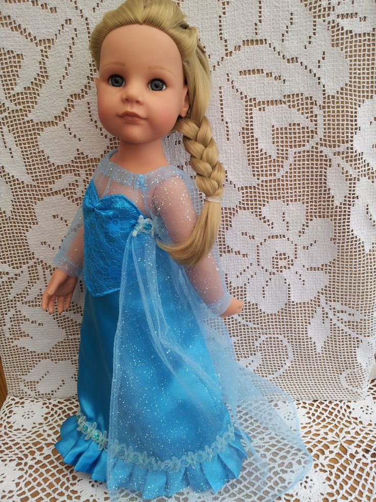 Like Elsa dress for Hannah Gotz American Girl Kidz n Cats