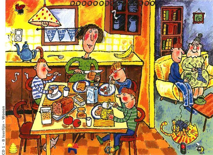 Eten in de keuken