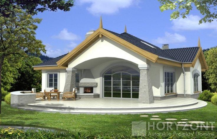 DOM.PL™ - Projekt domu HR ARABELLA wersja B z antresolą i piwnicą CE - DOM Z5-45 - gotowy projekt domu