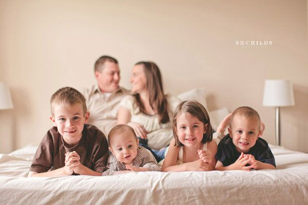 Indoor family photos