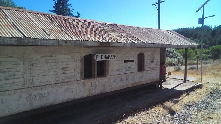 Train stop on the way to Constitucion, Chile