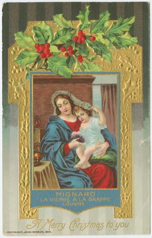 One Of Hundreds Thousands Free Digital Items From The New York Public Library Find This Pin And More On Christmas Vintage Nativity Cards