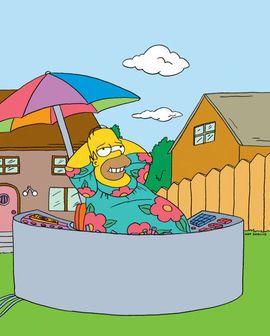 King Size Homer Simpson in his MuuMuu