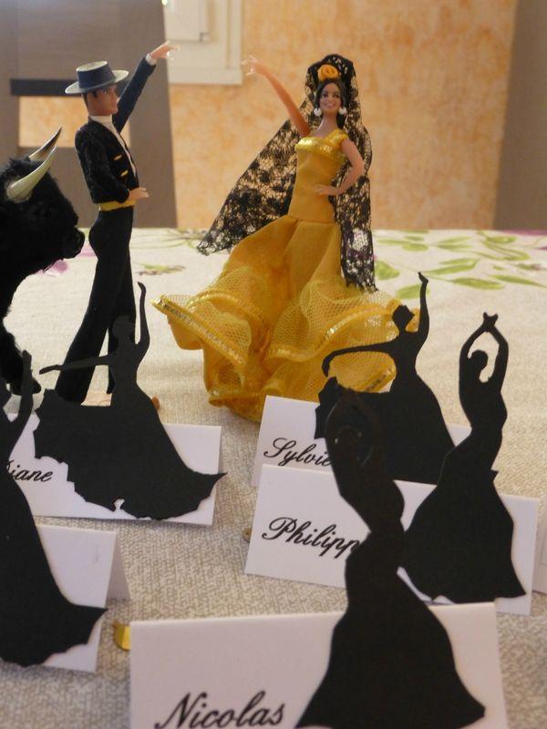 Porte nom flamenco d coration anniversaire th me espagne pinterest espa - Repas de noel espagnol ...
