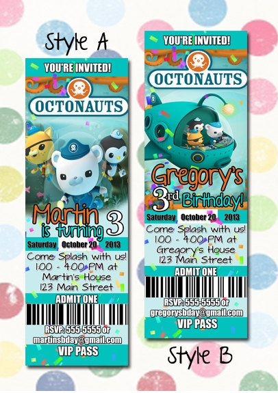 33 best Octonauts bday images on Pinterest Birthday party ideas