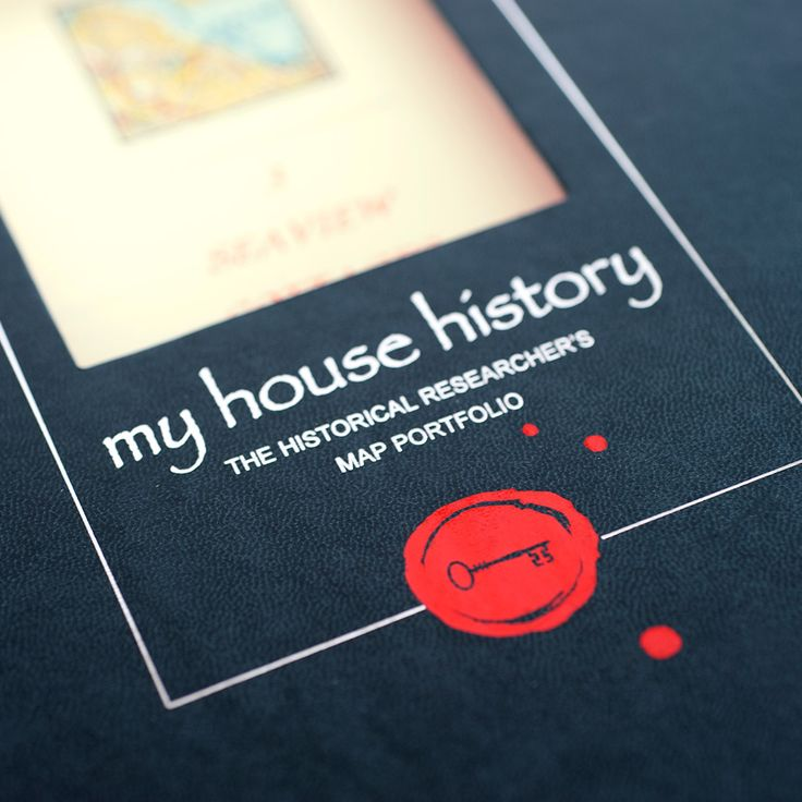 Individual House History Map Portfolio #gifts #personalised #history