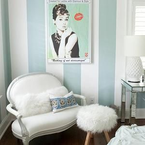 Striped Walls, Contemporary, girl's room, Furbish Studio