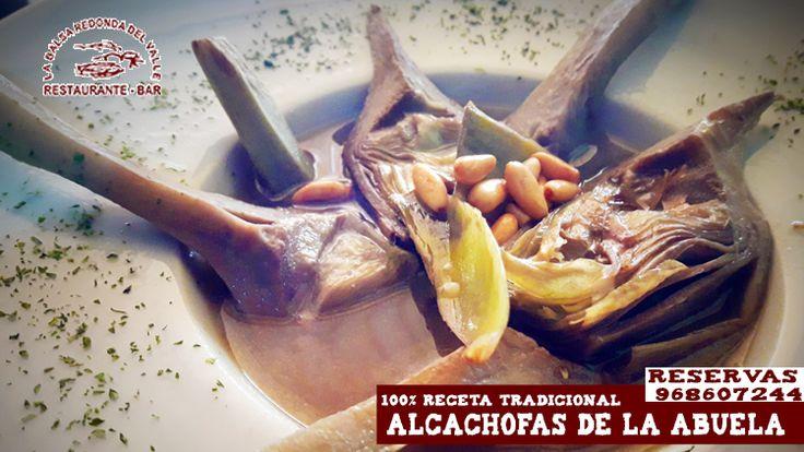 ¿apetece hoy para empezar un plato tradicional ? ¿ qué te parecen unas ALCACHOFAS DE LA ABUELA? Reserva ya mesa en el 968607244 y ven antes que se acaben ...