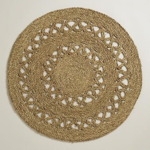 One of my favorite discoveries at WorldMarket.com: 3' Round Seagrass Matting Rug