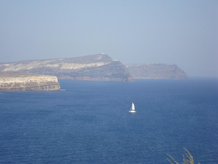 Running Santorini island.