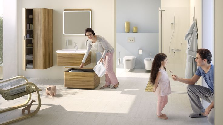 Create a #bathroom for all the family with @vitra.