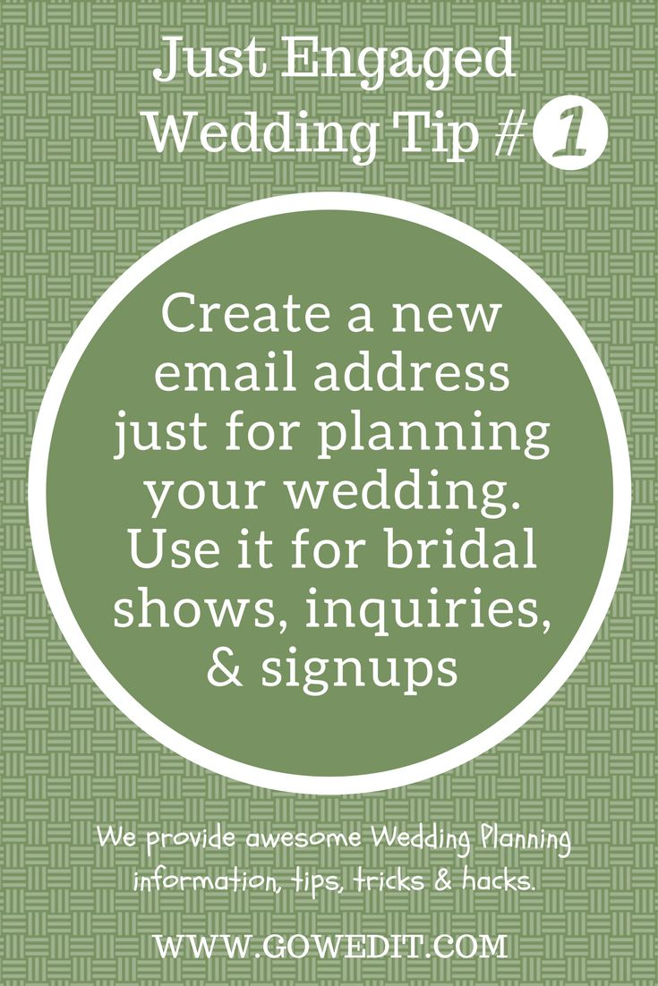 Wedding Planning | Tips, Tricks & Hacks | Time & Budget Saving Ideas | Follow us for more great tips | www.gowedit.com
