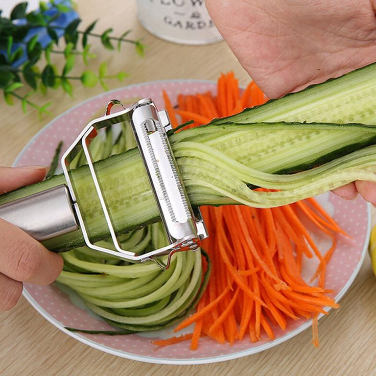Kitchen Accessories Cooking Tools Multifunction Stainless Steel Julienne Peeler Vegetable Peeler Double Planing Grater  Price: 3.41 USD