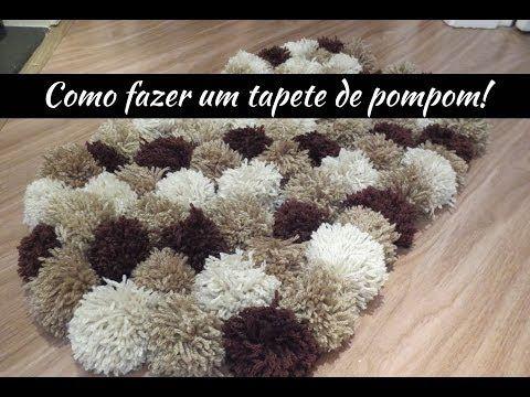 Como fazer um tapete de pompom - Vaidosa e Feminina