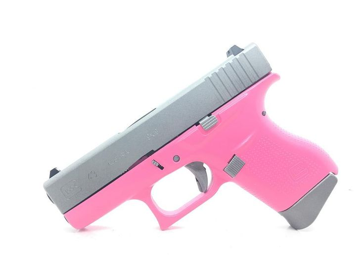 Glock 43 in pink and satin mag by taftprecision