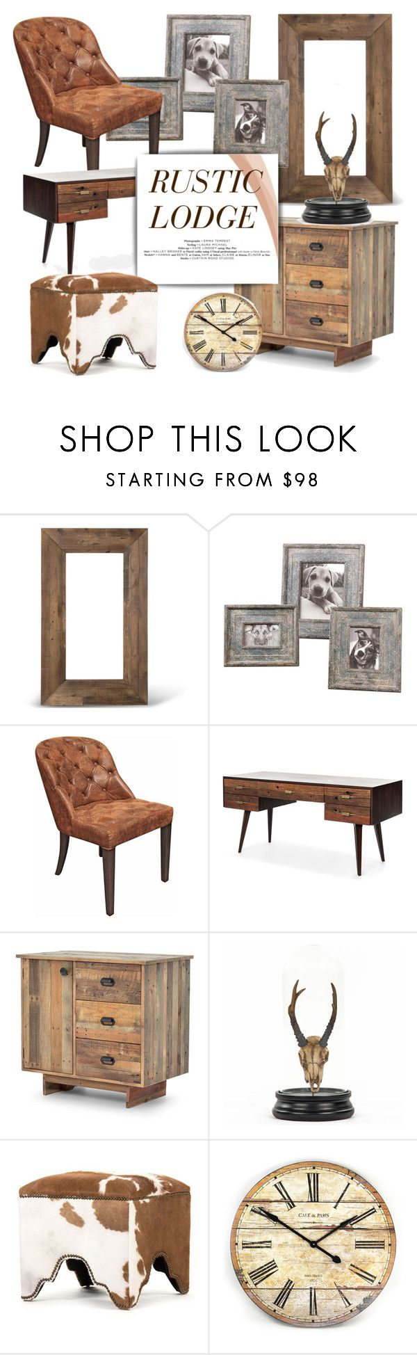 """""""Rustic Lodge Decor"""" by kathykuohome ❤ liked on Polyvore featuring interior, interiors, interior design, home, home decor, interior decorating, Tiffany & Co., rustic, Home and homedecor"""