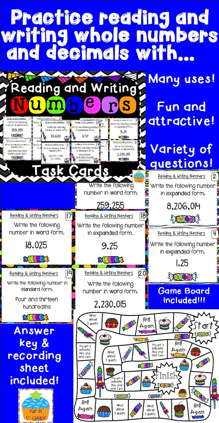 The 25 best expanded form with decimals ideas on pinterest reading writing numbers task cards game falaconquin