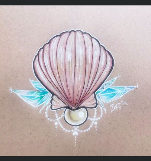 shell gem tattoo - Google Search