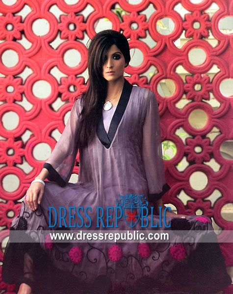 Lavender Hudson, Product code: DR3492, by www.dressrepublic.com - Keywords: Casual Shalwar Kameez Shops UK, Casual Summer Designer Salwar Kameez UK 2011 Collection